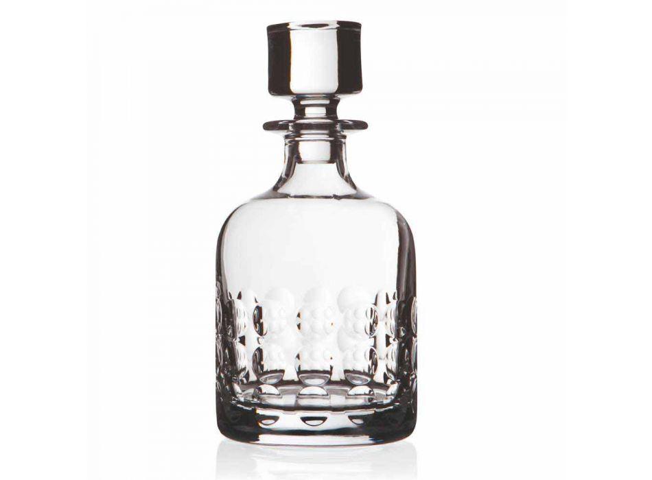 2 sticle pentru whisky în cristal ecologic decorate cu capac - titanioball