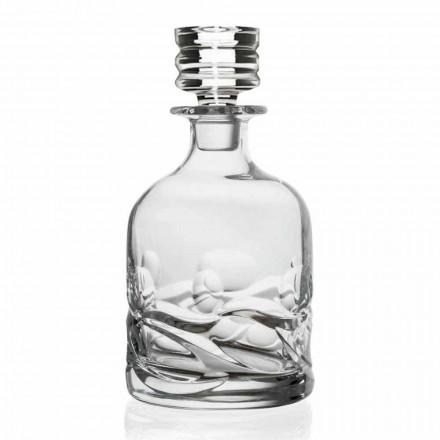 2 sticle de whisky decorate cu cristale ecologice cu capac de lux - titan