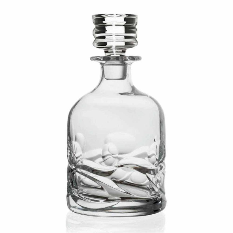 2 sticle de whisky din cristal decorate Eco și capac de lux - titan