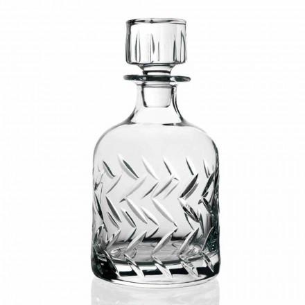 2 sticle de cristal whisky ecologic cu capac, decorațiuni vintage - aritmie