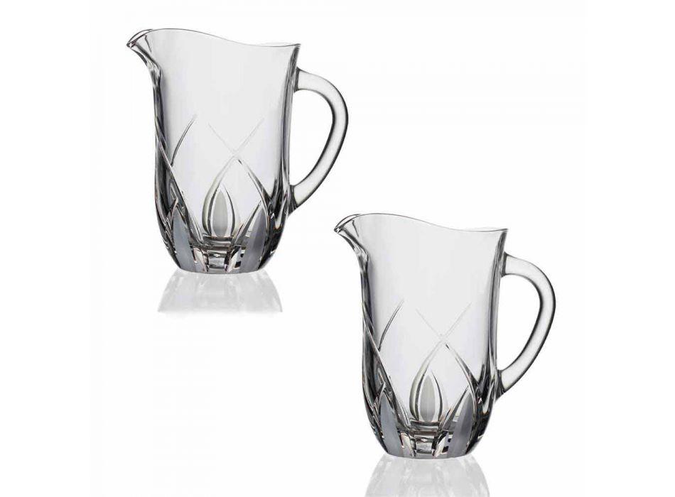 2 urci de cristal ecologice cu apă Design de lux decorat manual - Montecristo