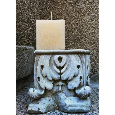 2 lumânări pătrate de diferite dimensiuni din ceară fabricate în Italia - Adelle