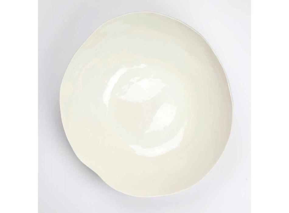 2 boluri de salată în porțelan alb Piese unice de design italian - Arciconcreto