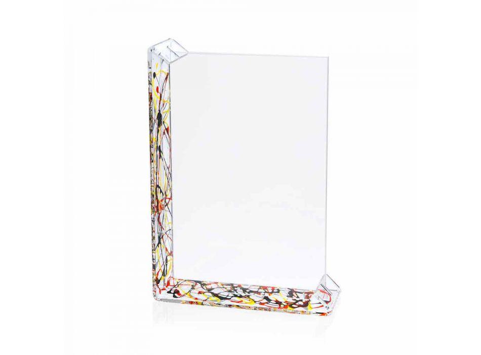 2 Cadru foto de masă multiplă în plexiglas colorat sau cu lemn - Menelao
