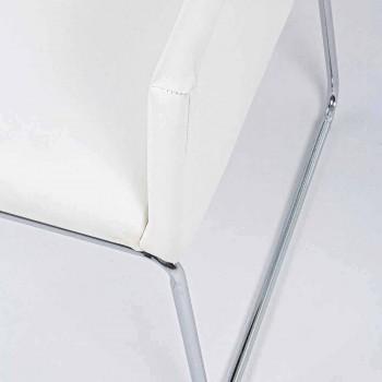 2 scaune cu cotiere acoperite în piele Design modern Homemotion - Farra