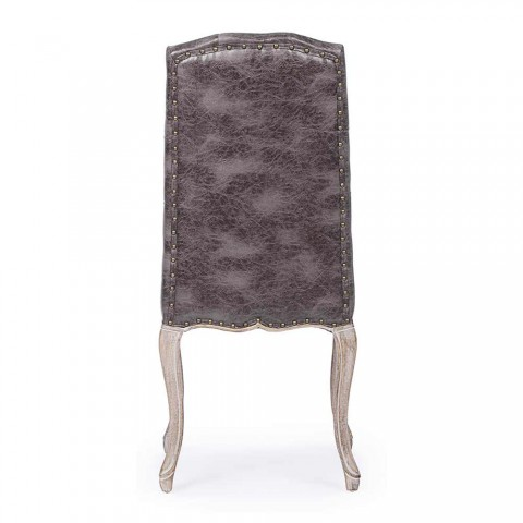 2 scaune de sufragerie cu scaun tapițat și tapițat Homemotion - Mania