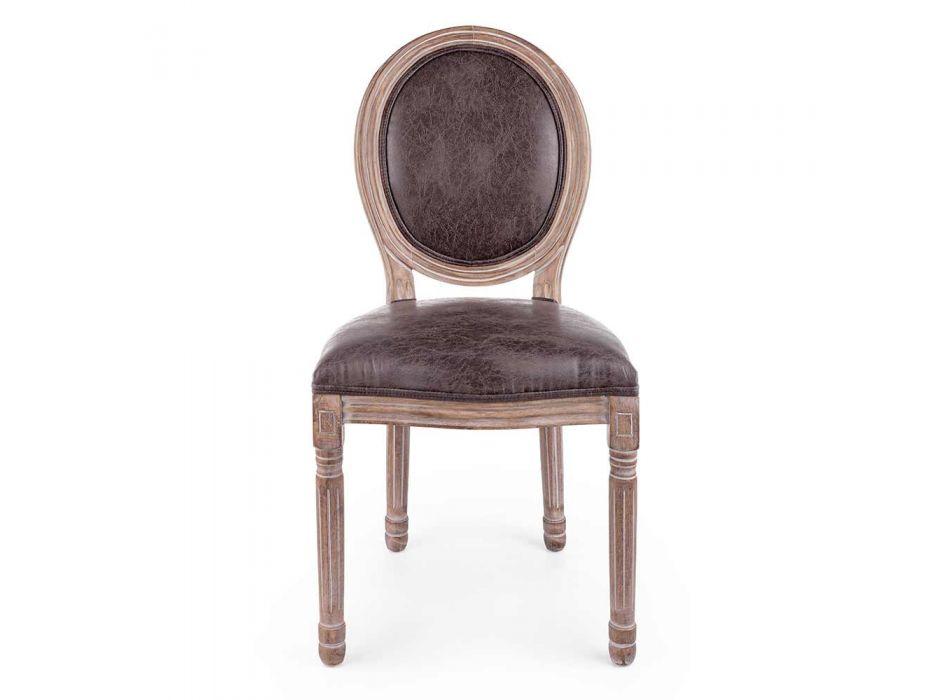 2 scaune de sufragerie cu design clasic în poliester Homemotion - Dalida