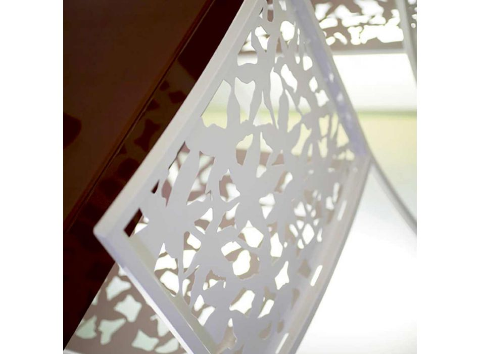 2 scaune în metal alb, tăiate cu laser, cu design scăzut sau înalt - Patatix