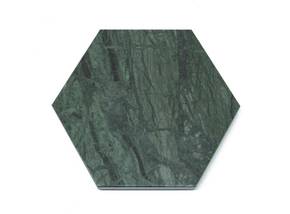2 Geamuri hexagonale din marmură albă, neagră sau verde realizate în Italia - Paulo