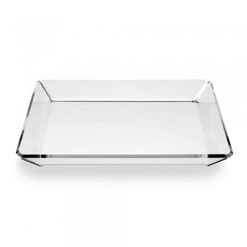 2 Tavă de intrare în plexiglas de design modern în plexiglas transparent - Tonio