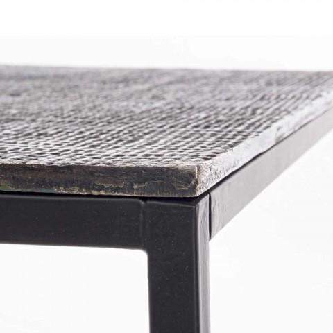 2 Mese de cafea Homemotion din aluminiu și oțel vopsit - Sereno
