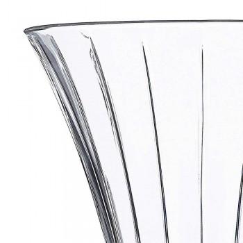 2 vase de decorare de design în cristal transparent transparent decorat de lux - Senzatempo