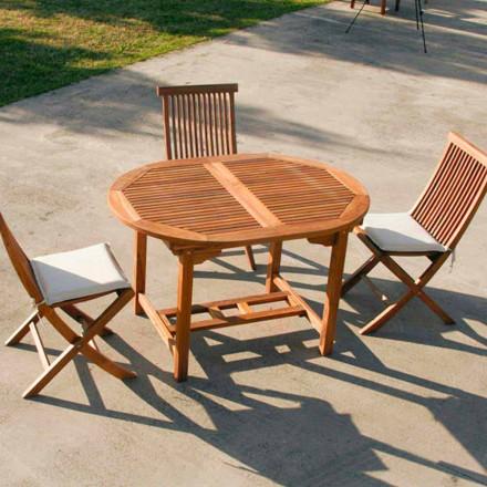 de masă din lemn de tec grădină extensibil Lipari