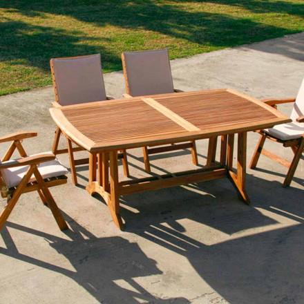 Extensie de masa din lemn de tec în aer liber Amalfi