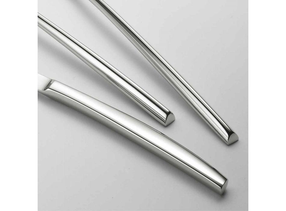 24 Tacâmuri din oțel lustruit Design triunghiular Design modern elegant - Caplin