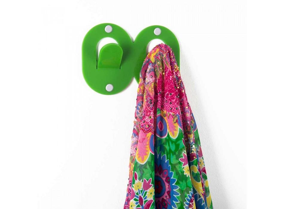 3 cuiere de perete în plexiglas colorat, dublu design italian cu clip - Freddie