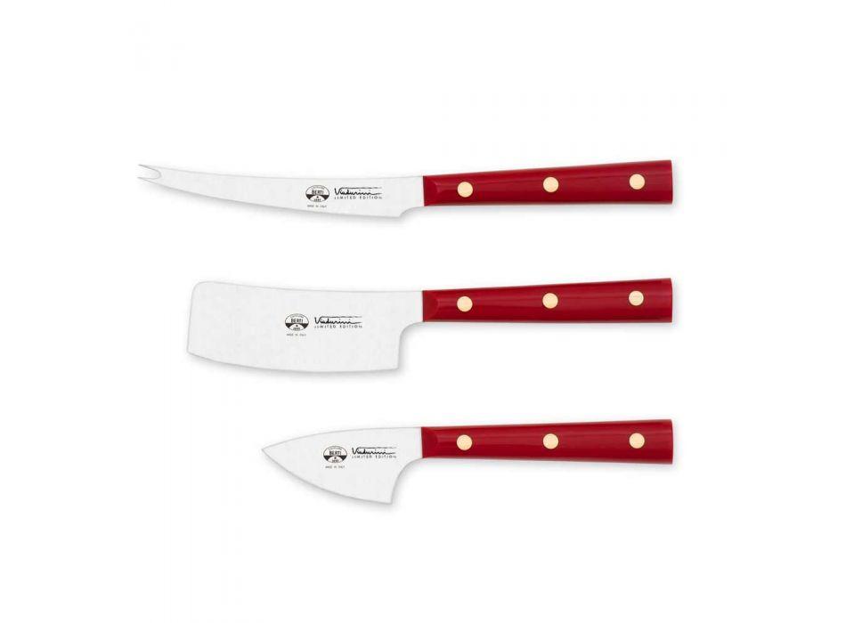 3 cuțite pentru brânză din oțel inoxidabil Berti exclusive pentru Viadurini - Asiago