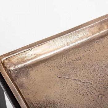 3 Mese de cafea pătrate în aluminiu și oțel Homemotion - Quinzio