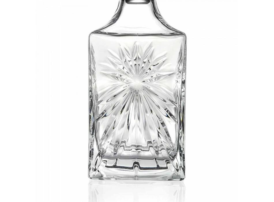 4 sticle de whisky cu design de pătrat Eco Crystal Cap - Daniele