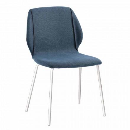 4 scaune elegante de design modern, din țesătură, cu margine - Scarat