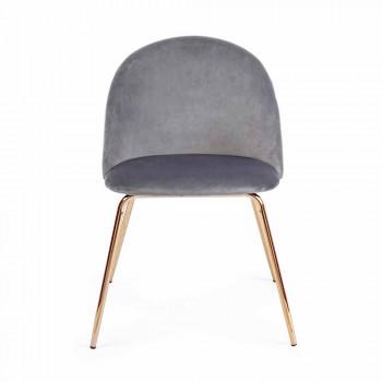 4 scaune de design tapițate în catifea cu structură din oțel Homemotion - Dania