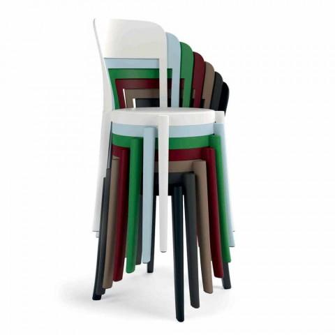 4 fotolii de polipropilenă stivuibile în aer liber, realizate în design italian - Alexus