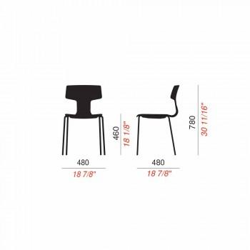 4 scaune stivuibile din metal și polipropilenă Fabricate în Italia - Clarinda