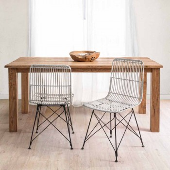 4 scaune de sufragerie din oțel și țesut de Kubu Homemotion - Kendall
