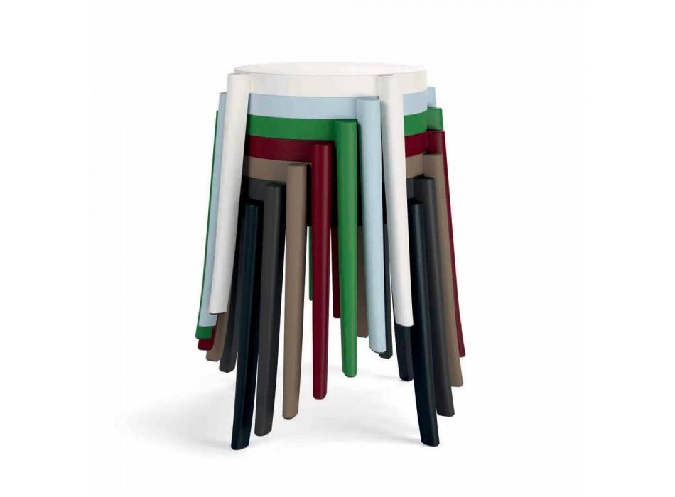 4 Taburete Stilabile Exterior Design în Polipropilenă Made in Italy - Anona