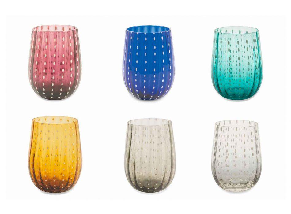 6 ochelari colorați și moderni pentru un serviciu elegant de apă - Persia