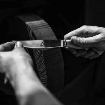 6 cuțite de bucătărie artizanale cu mâner din corn de bou Fabricate în Italia - Marino