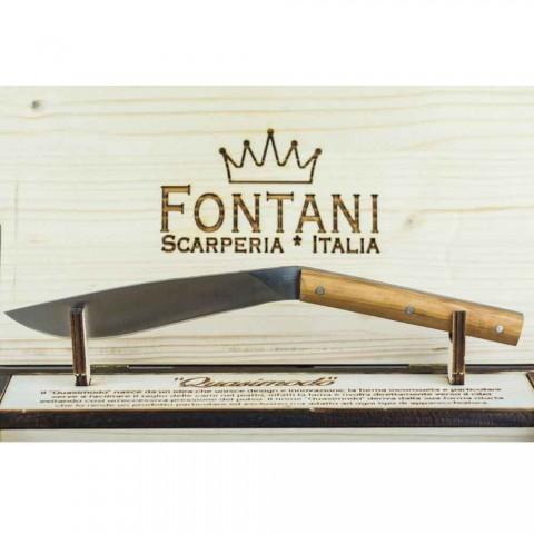 6 cuțite ergonomice pentru friptură cu lamă de oțel fabricate în Italia - rechin