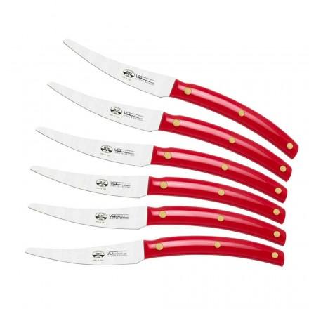 6 cuțite de masă fabricate în Italia, Berti exclusiv pentru Viadurini - Alserio