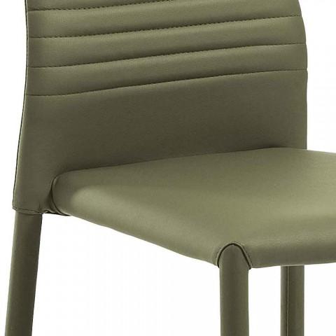6 scaune stivuibile în piele ecologică colorată Design modern pentru camera de zi - Merida