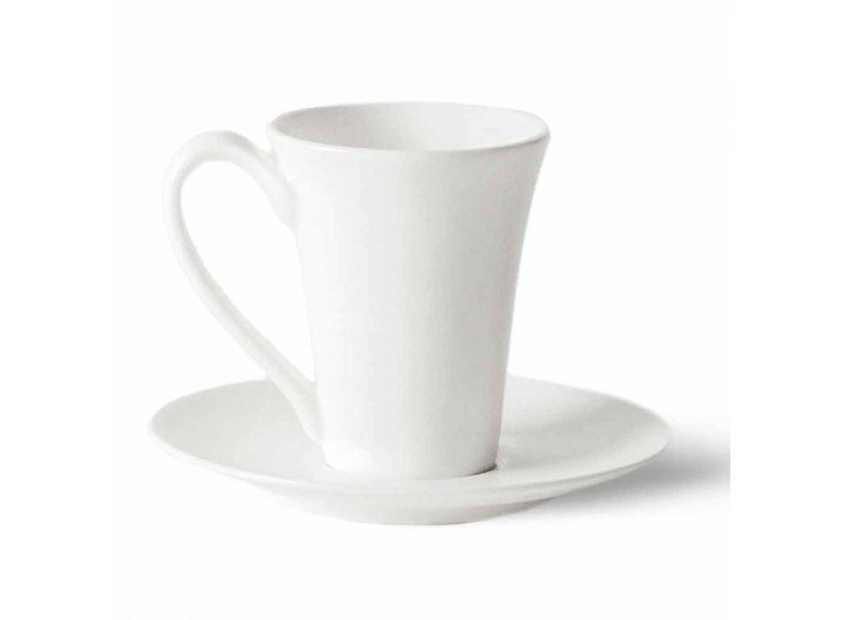 6 pahare de cafea din porțelan cu oală de cafea și bol de zahăr - Romilda
