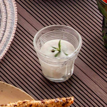 6 pahare de cafea Pahare încrețite în sticlă de design colorat - Sarabi