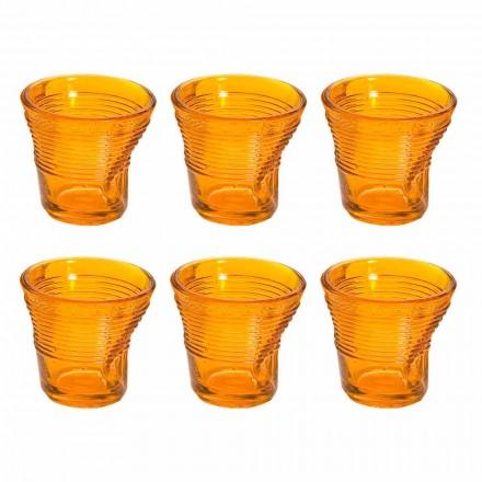 12 pahare de cafea Sticlă colorată colorată - Sarabi