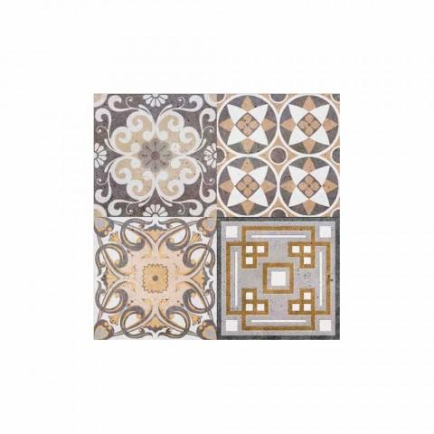 6 Placi de design americane dreptunghiulare din PVC și poliester - Dimetra