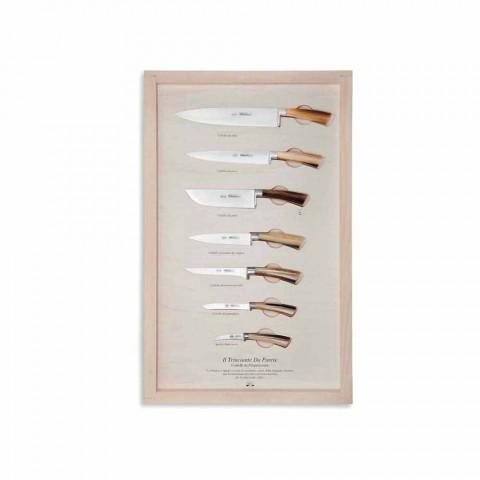 7 cuțite de perete Berti din oțel inoxidabil exclusive pentru Viadurini - Modigliani