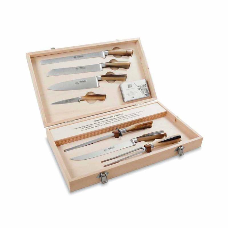 7 cuțite de masă din oțel inoxidabil Berti exclusiv pentru Viadurini - Sanzio