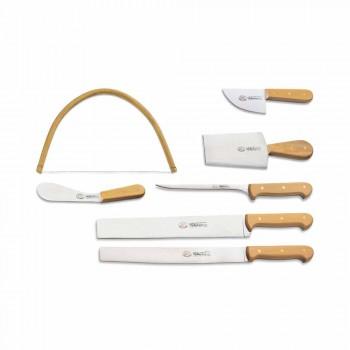 7 cuțite italiene Berti din oțel inoxidabil exclusive pentru Viadurini - Alessano