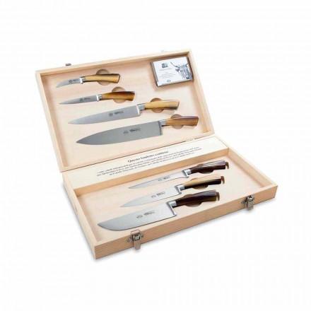 7 cuțite italiene din oțel inoxidabil, Berti exclusiv pentru Viadurini - Goya