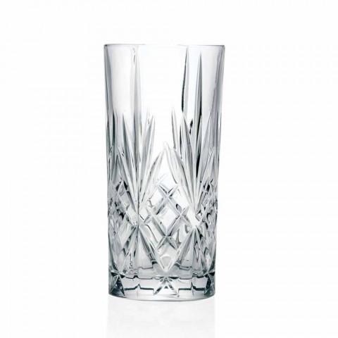 8 pahare înalte Highball Tumbler pentru cocktail în cristal ecologic - Malgioglio