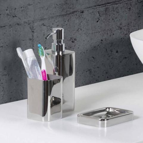 Accesorii de baie cu finisaj din oțel inoxidabil cromat - lucios