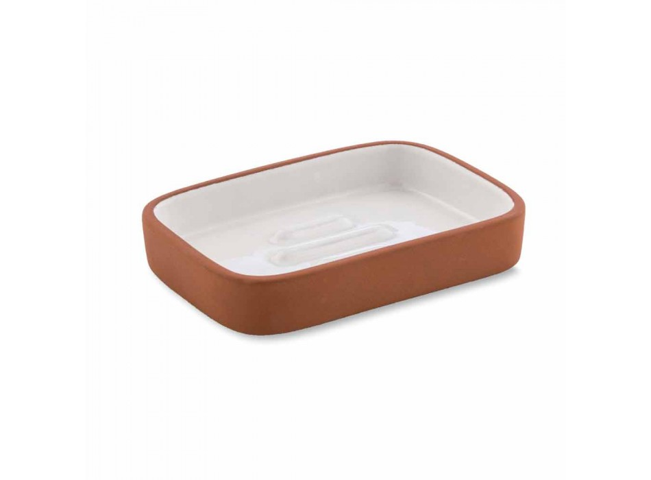 Accesorii de baie independente din teracotă și ceramică albă - teracotă