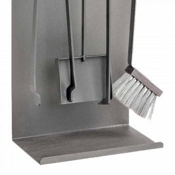 Accesorii pentru șemineu din oțel colorat Fabricat în Italia 4 bucăți - Rachel