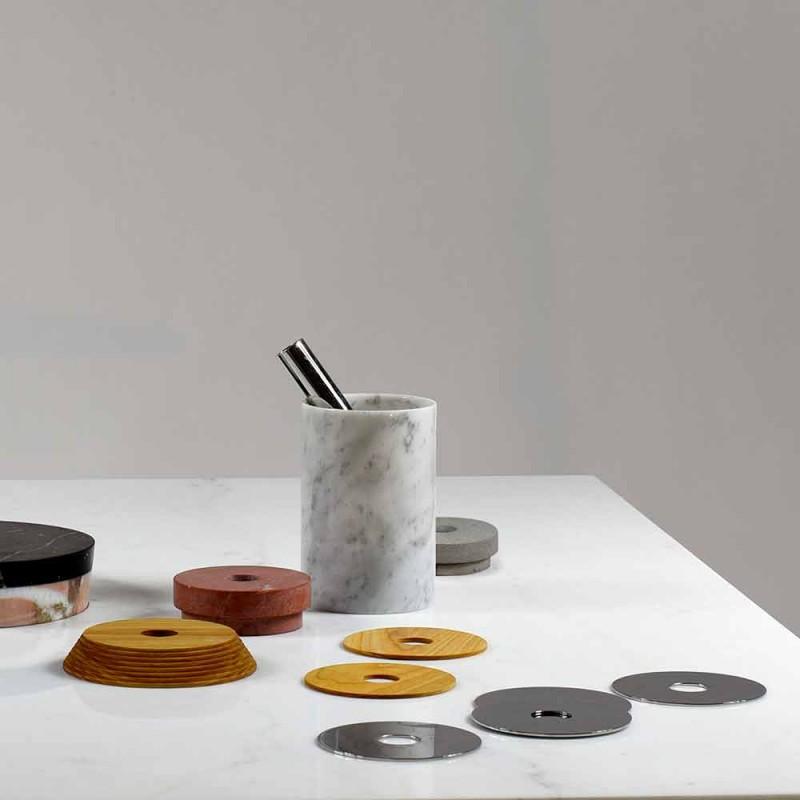 Accesorii Aperitiv Instrumente de cocktail în marmură, lemn și oțel - Norman