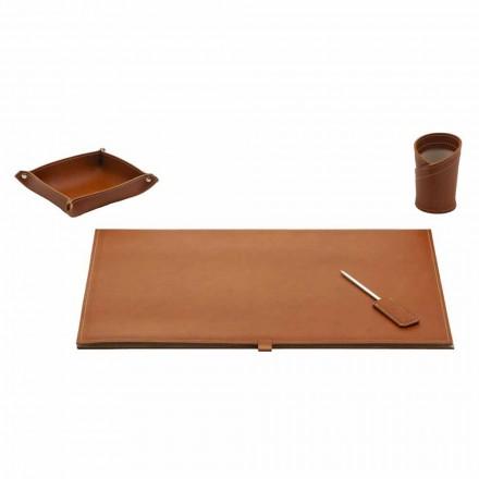 Accesorii pentru birou de design în piele lipite, 4 piese - Aristotel