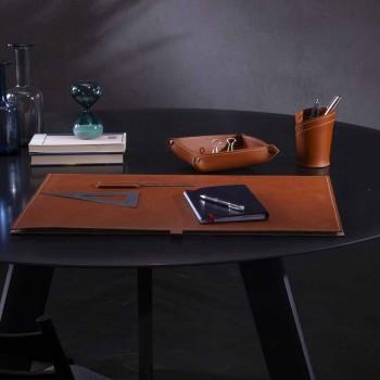 Accesorii de birou din piele regenerată 4 bucăți fabricate în Italia - Aristotel