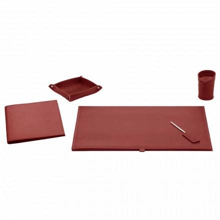 Accesorii de birou pentru birou din piele lipite, 5 piese - Aristotel